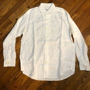 Men's Tommy Bahama Linen White Embroidered Shirt